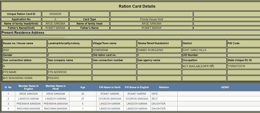 मेघालय राशन कार्ड लिस्ट 2020 में अपना नाम कैसे देखें? Meghalaya bpl list 2020